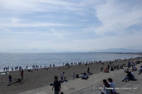 湘南海岸の砂浜