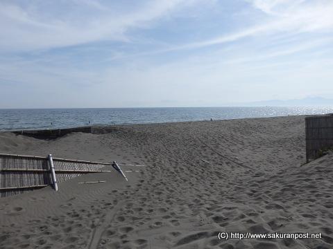 湘南の砂浜