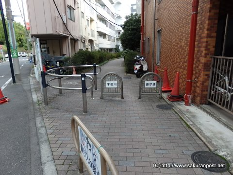 宇田川遊歩道入り口